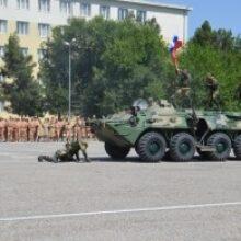 На 201-й военной базе отметили День России