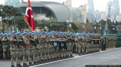 В Баку прошёл военный парад в честь прекращения военных действий в Нагорном Карабахе (Арцахе)